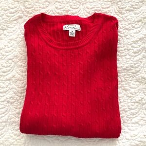 Kim Rogers Red Crewneck Sweater